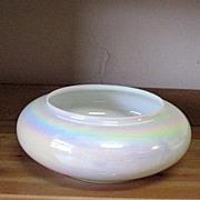 SALE Vintage Hand Blown Opalescent/Iridescent Bowl/Vase 1960s Mint