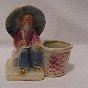 SALE Vintage Collectible Shawnee Old Chinese Man Planter USA 617 1940-50s Mint
