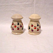 SALE Vintage New Avenues Orchard Motif Ceramic S & Ps 1984 Mint