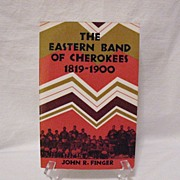 SOLD Vintage Paperback Book The Eastern Band Of Cherokees 1819-1900 Copyright 1984 Very Good C