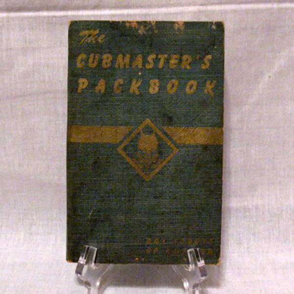 Vintage Boy Scout Cub Master's Packbook 1943 Very Good Condition