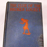 SALE Vintage Carolyn Keene's The Clue of The Broken Locket 1934 Copyright Very Good Condition