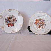 """Vintage Collectible (2) Z S & Co 7 1/2"""" Salad Plates Fine Porcelain 1880-1918 Excellent C"""