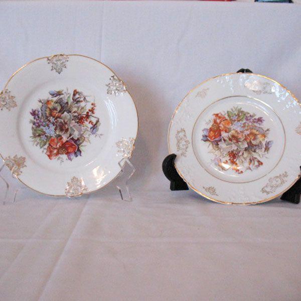"""Vintage Collectible (2) Z S & Co 7 1/2"""" Salad Plates Fine Porcelain 1880-1918 Excellent Condition"""