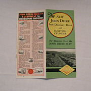 SOLD 20% OFF Vintage Collectible John Deere Advertising Pamphlet The New John Deere Side-Deliv