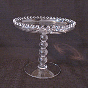 SALE Vintage Imperial 4-Ball Stem Compote #400/48F in Candlewick Pattern Like New Condition
