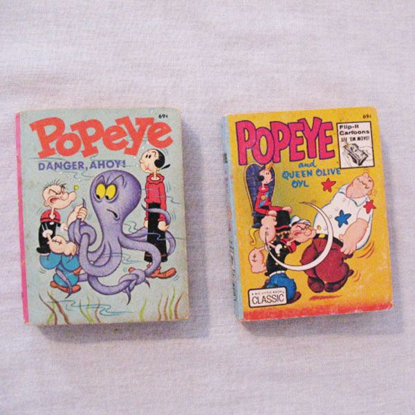 (2) Vintage Popeye Big Little Books Published by Whitman From 1969 & 1973 Very Good Condition