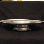 SALE Vintage Hand Wrought Aluminum Lazy Susan Tray by  Cromwell 1950-60s Excellent Condition