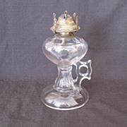 Vintage Tall Finger Kerosene Lamp Early 1900s Very Useable No Damage