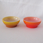 SOLD Two Vintage Anchor Hocking Fire King Cereal Bowls 1950-60s Like New Condition