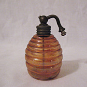 SOLD Vintage Perfume Atomizer Bottle Horizontal Ribbed 1930-40s Very Good Condition