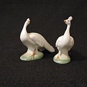 SOLD Vintage Miniature Porcelain Peacock Figurines 1950-60s Excellent Condition
