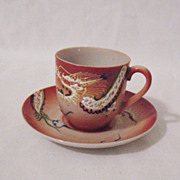 SALE Vintage Dragon Ware Cup & Saucer 1950-60s Excellent Condition