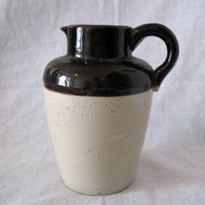 Vintage Salt Glazed Stoneware 6 Inch Pitcher 1940-50s Excellent Condition