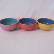 SOLD Vintage Collectible Lindt-Stymeist  (3) Fruit/Dessert Bowls Colorways Pattern Mint