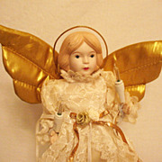 SOLD Vintage Christmas Angel Tree Topper 1970s Very Good Condition