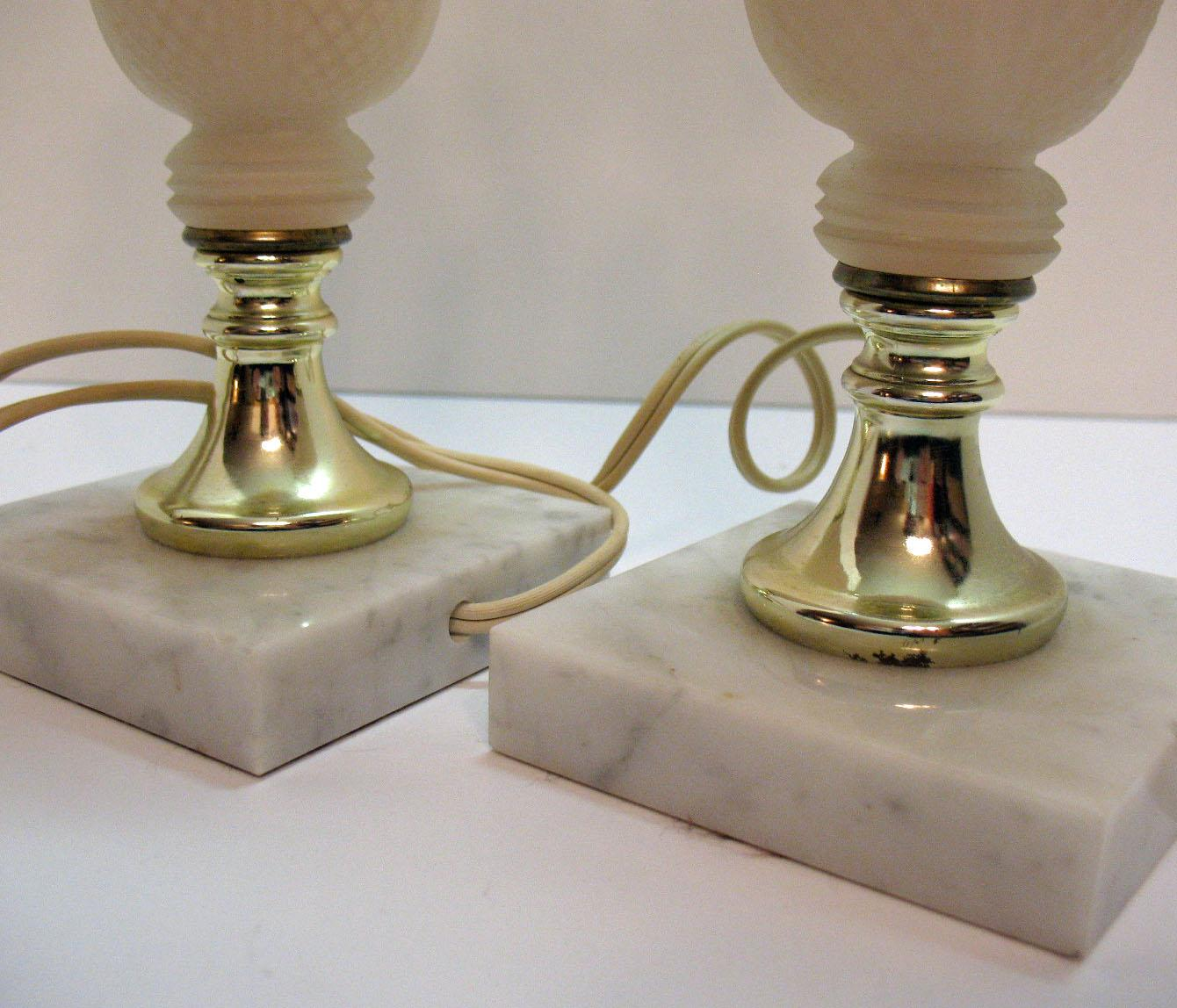 Vintage Alabaster Table Lamps 1950 60s Made In Italy Lamps