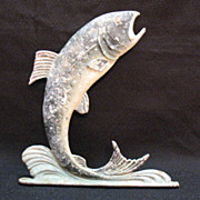 SOLD Vintage Metal Wall Hanging Hook Shape of a Fish 1950-60s Good Condition