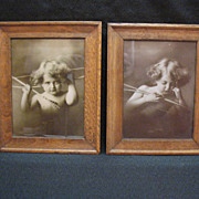 Vintage Antique Cupid Awake/Asleep 1897 Prints by M.B. Parkinson Very Good Condition