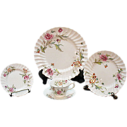 Vintage Royal Doulton Fine Bone China (12) Five Piece Place Settings Clovelly Pattern 1941-61