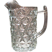 SALE Vintage Imperial Crystal Pitcher with Ice Lip Mt. Vernon Pattern 1920-70s Very Good ...
