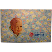 SALE Vintage Heat & Serve Baby Dish Hard Plastic 1960s Still Works Never Used