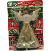 SOLD Vintage 10 Light Tree Top Angel 1960s Original Package Unopened Excellent Condition