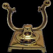 SALE Vintage Brass Pocket Watch Display Stand Holder 1960s Good Condition