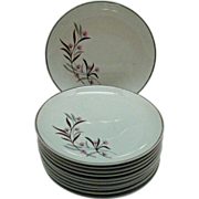 Vintage (11) Bread & Butter Plates by Universal Pottery Co Straw Flower Pattern 1934-56 ..