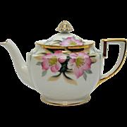 SALE Vintage Noritake Porcelain Tea Pot Gold Finial Hand Painted Azalea Pattern #19322 Very Go