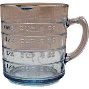 SOLD Vintage Anchor Hocking Fire King Sapphire Blue One Cup Measuring Cup Very Good Condition