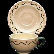 Vintage Metlox Vernon Poppytrail California Provincial (9) Cup & Saucer Sets 1956-82 Very Good