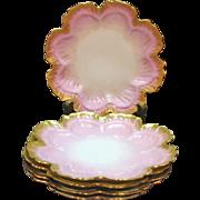 (4) Vintage Limoges Porcelain Plates D.C. France 1890-1900 Very Good Condition