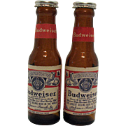 Vintage Advertising Budweiser S & P Shakers 1950-60s Very Good Condition