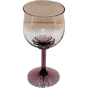Vintage (14) Fostoria Water goblets Amethyst Base & Stem Corsage Plum Pattern 1970s Very Good
