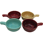 SALE Vintage Heinz Advertising Pottery Soup Bowls by McCoy 1940s Very Good Condition