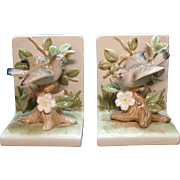 SOLD Vintage Ceramic Bird Bookends 1970s Very Good Condition