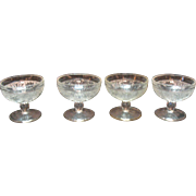 Vintage 4 Crystal Champagne/High Sherbet Sandwich Pattern by Indiana Glass Co. 1925-85 Very ..
