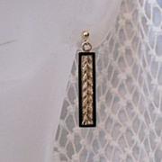 SOLD 50% OFF~Feminine Vintage 14K Gold Pierced Earrings