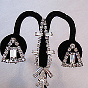 Dazzling Vintage Signed Weiss Rhinestone Necklace & Earrings Set