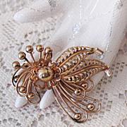 SALE Vintage Gold Filled Signed Walter Lamp WL Brooch Pendant