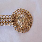 HUGE Vintage Double Lion 1980s Belt Buckle~Unworn