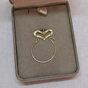 SOLD Gorgeous Vintage 14K Gold Charm Holder Pendant~Original Box