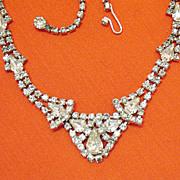 SALE Vintage Signed Kramer of NY Magnificent Rhinestone Necklace