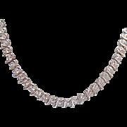 SOLD Vintage Cubic Zirconia Line Necklace~Unworn