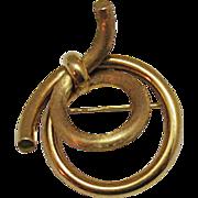 SALE Very Rare 18K Gold Krementz Umbrella Signed Brooch