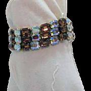 SALE Signed Kramer Emerald Rhinestone Bracelet~Magnificent!!