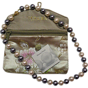 Vintage Estate Honora Fresh Water Cultured Pearl 10mm Grey & Cream Necklace