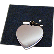 Vintage Sterling Silver Heart Signet Charm by Wells