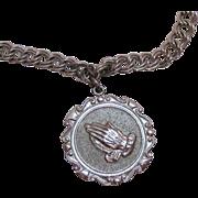 SALE Beautiful Vintage Sterling Silver Charm Bracelet Praying Hands by J.B.